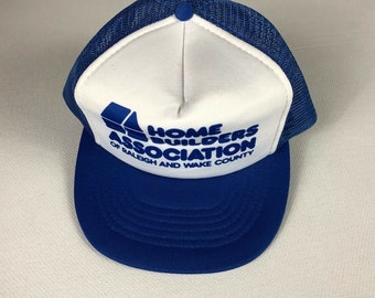 Home Builders Association Snapback Hat Foam Front Cap Raleigh Wake County North Carolina Adult Mens One Size Sunbelt Brand Polyester Trucker