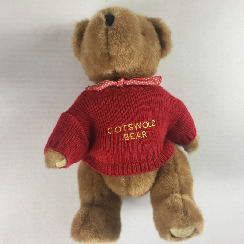 Cotswold Plush Bear Fully Jointed Head Arms Legs Sweater Bow image 0