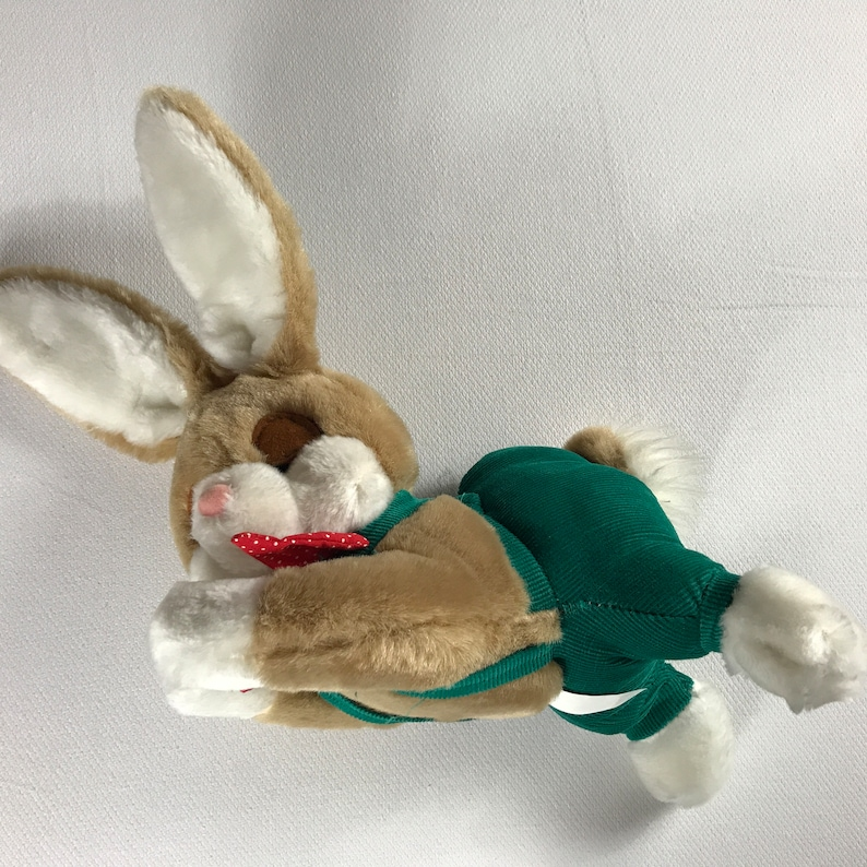 Clover Rabbit Plush 1987 Stuffed Kids Bunny 10 80s BOA image 0