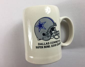 Dallas Cowboys Stein  1993 Super Bowl XXVII Champs Schedule Results Football