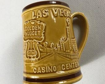 Las Vegas Casino Center Stein Beer Drink City Strip Gambling Slots Lights 3D