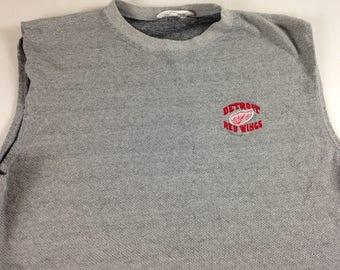 Detroit Red Wings Shirt Tank Sleeveless Mens XL Short NHL Hockey Muscle Tee