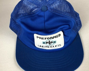 Performed Line Products Snapback Hat Patch Cap Blue White Trucker USA Made Adult Mens One Size Swingster Brand