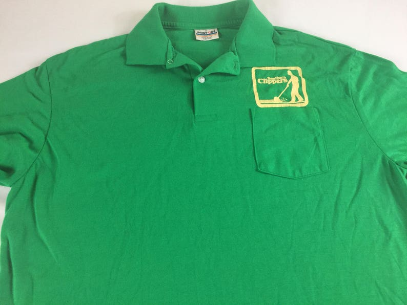 79f425ac Southern Clippers Polo Shirt Mens SZ M-XL Green Grass USA Made   Etsy