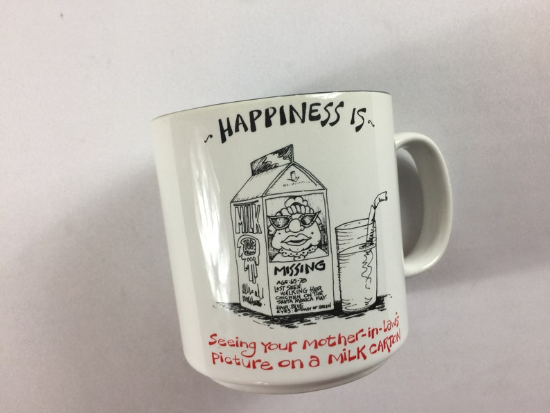 Happiness Is Coffee Mug Lamb Papel Seeing Mother In Laws image 0