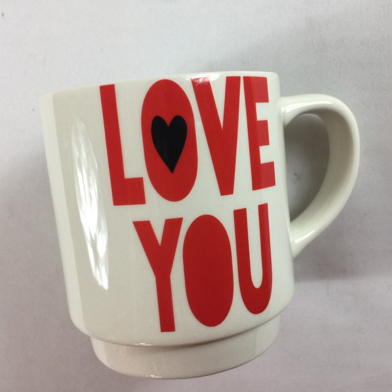 Love You More Coffee Mug Cup Hearts Couple Gift Laurie Veasey image 0