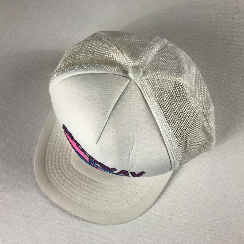 Speedway Indiana Foam Front Snapback Hat Cap Racing White Neon Pink Purple Blue Adult