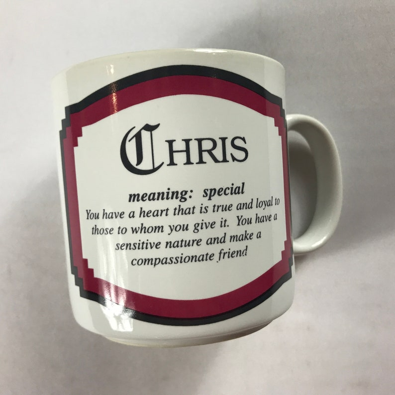 Chris Name Coffee Mug 1996 Cup Papel Special Heart Loyal image 0