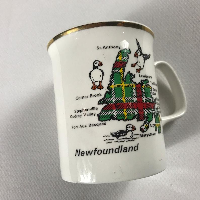 Newfoundland Coffee Mug Cup England UK Made City Bird Canada image 0