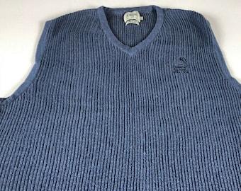 Fleming Island Golf Club Sweater Mens SZ M/L Florida Smoky Blue 2000 Vest