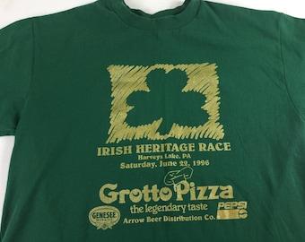 Irish Heritage Race T-Shirt 1996 Adult SZ M/L Harveys Lake Pennsylvania 90s