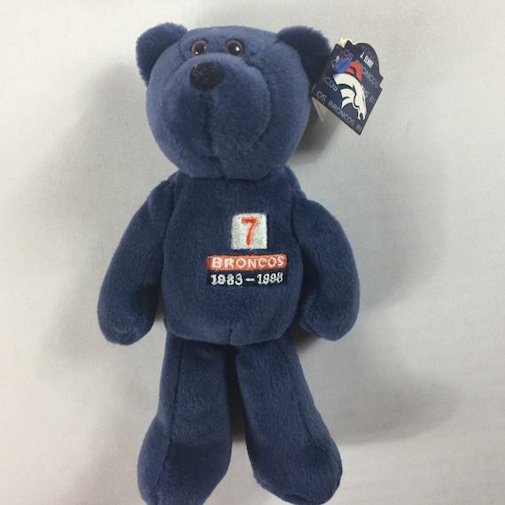 Denver Broncos John Elway Plush Bear 1998 Beanie Beans Etsy