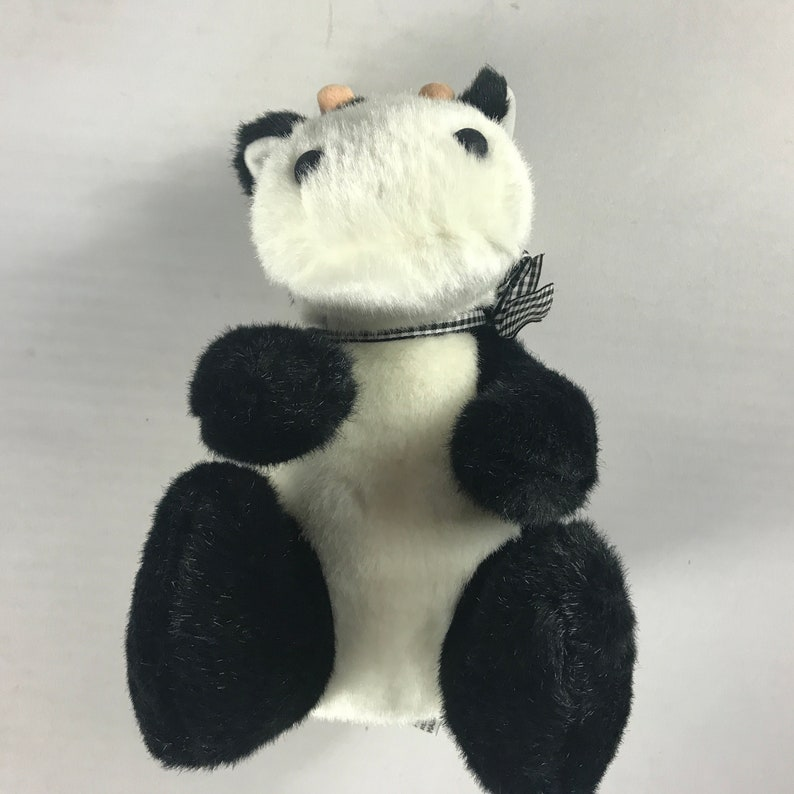 Concord Plush Cow 1994 Stuffed 10 Animal 90s Kids Ribbon image 0
