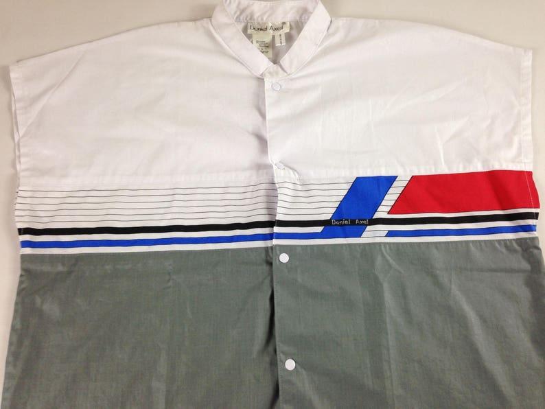 Daniel Axel Shirt Mens Large 90s Sleeveless Lightweight Button image 0