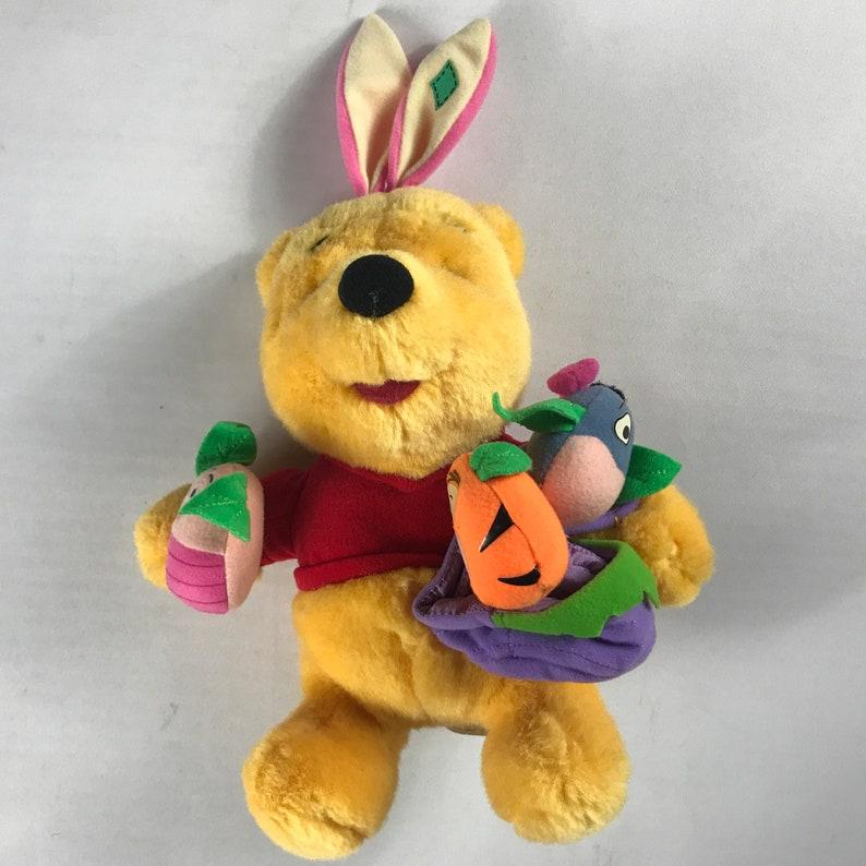 Pooh Bear Plush 1999 Stuffed Easter Eggs Basket Piglet Tigger image 0