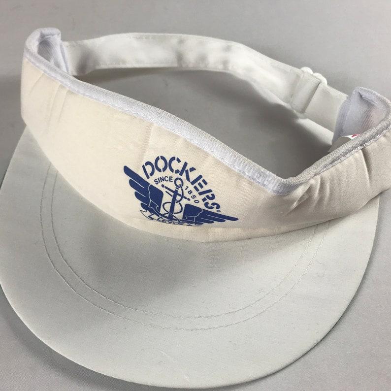 Dockers Levis Visor Hat Cap Foam Front White Blue Adult One image 0