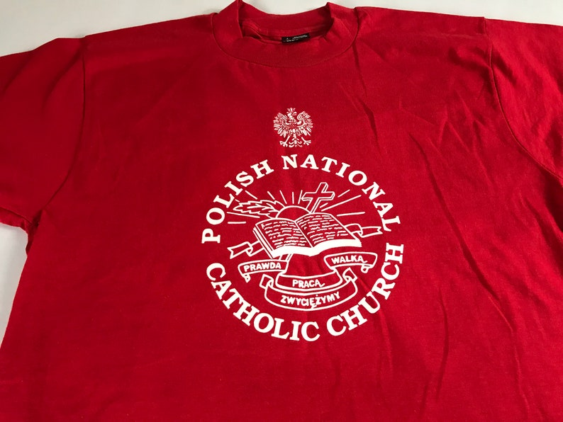 Polish National Catholic Church T-Shirt Adult SZ M/L Christian image 0