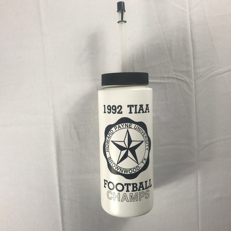 Howard Payne Water Bottle 1992 Football Champs Mug TIAA image 0