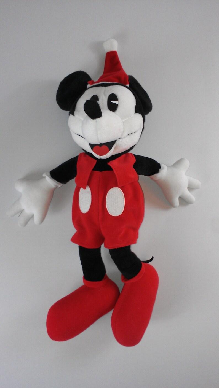 Disney Gund Large Mickey Mouse Big Stuffed Plush Santa Hat image 0