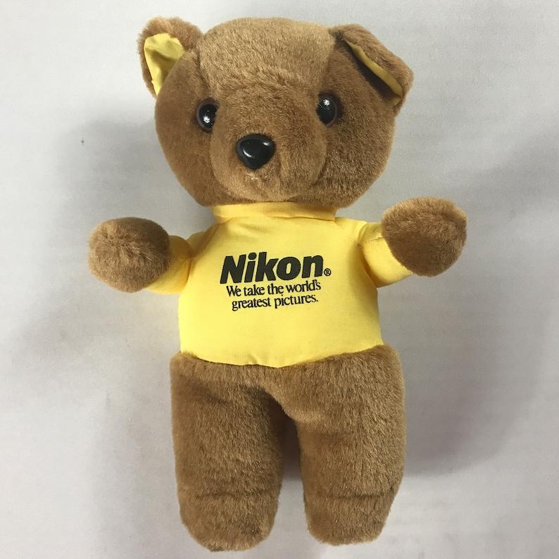 Nikon Plush Bear Camera Photography Photos Small 8.5 image 0