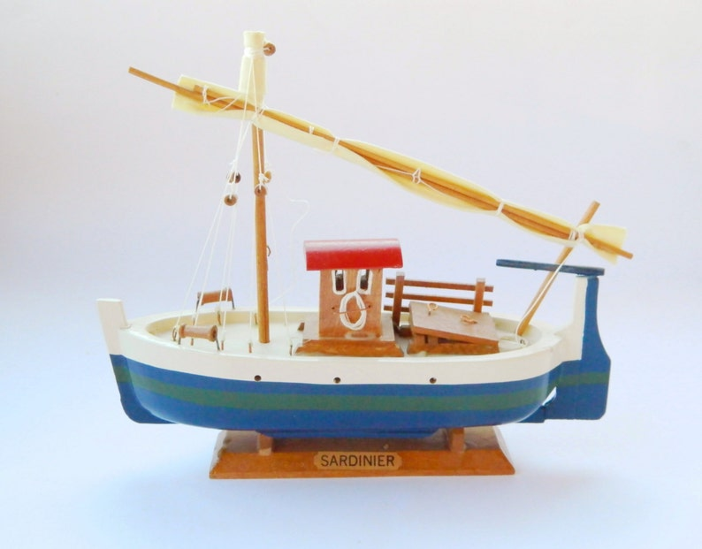 Collectible Boatvintage Wooden Model Shipsardinier Model Old Sailingshiphandcrafted Ship Model Decorative Boat Modelready To Ship