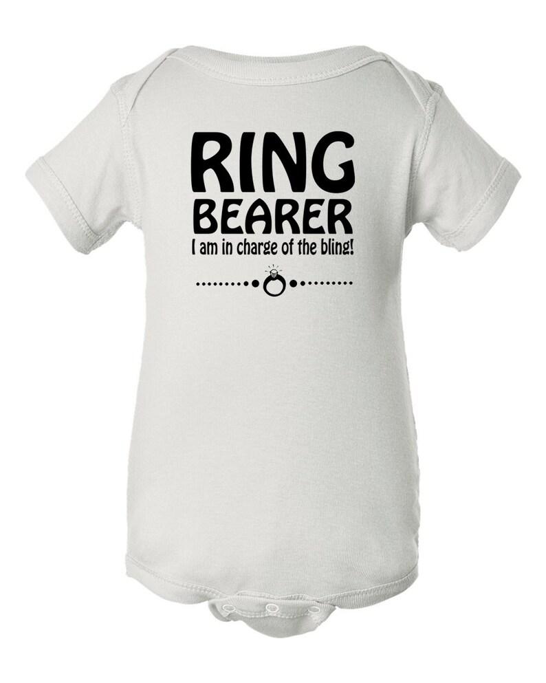 Ring Bearer Toddler Bodysuit Cute Ring Bearer Shirt Ring Bearer I am in Charge of the Bling Bodysuit Ring Bearer Baby