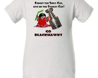 Forget the sippy cup give me the stanley cup, Blackhawks Stanley Cup Baby Bodysuit, Chicago Blackhawks Baby Bodysuit