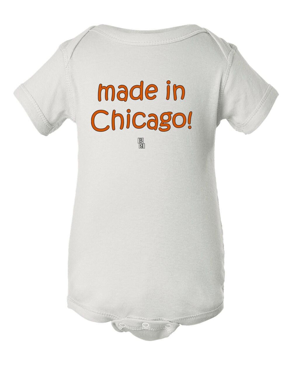 Custom Design Bodysuit Made In Chicago Customized Baby Tee Etsy