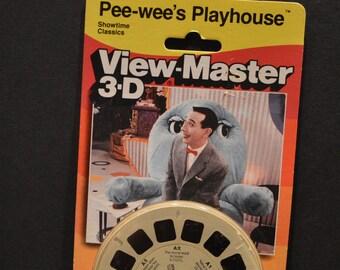 1990 Pee-wee's Playhouse-Pee Wee Herman View Master Reels - Sealed in Package