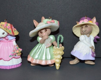 Springtime Bonnets Series Hallmark Easter Ornament-Includes Ornaments 1-4