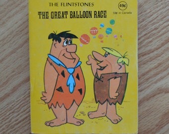Vintage 1977 Hanna-Barbera The Flintsotnes The Great Balloon Race-Little Book