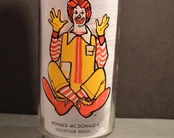 1970's Ronald McDonald- McDonalds Collector Series Glass
