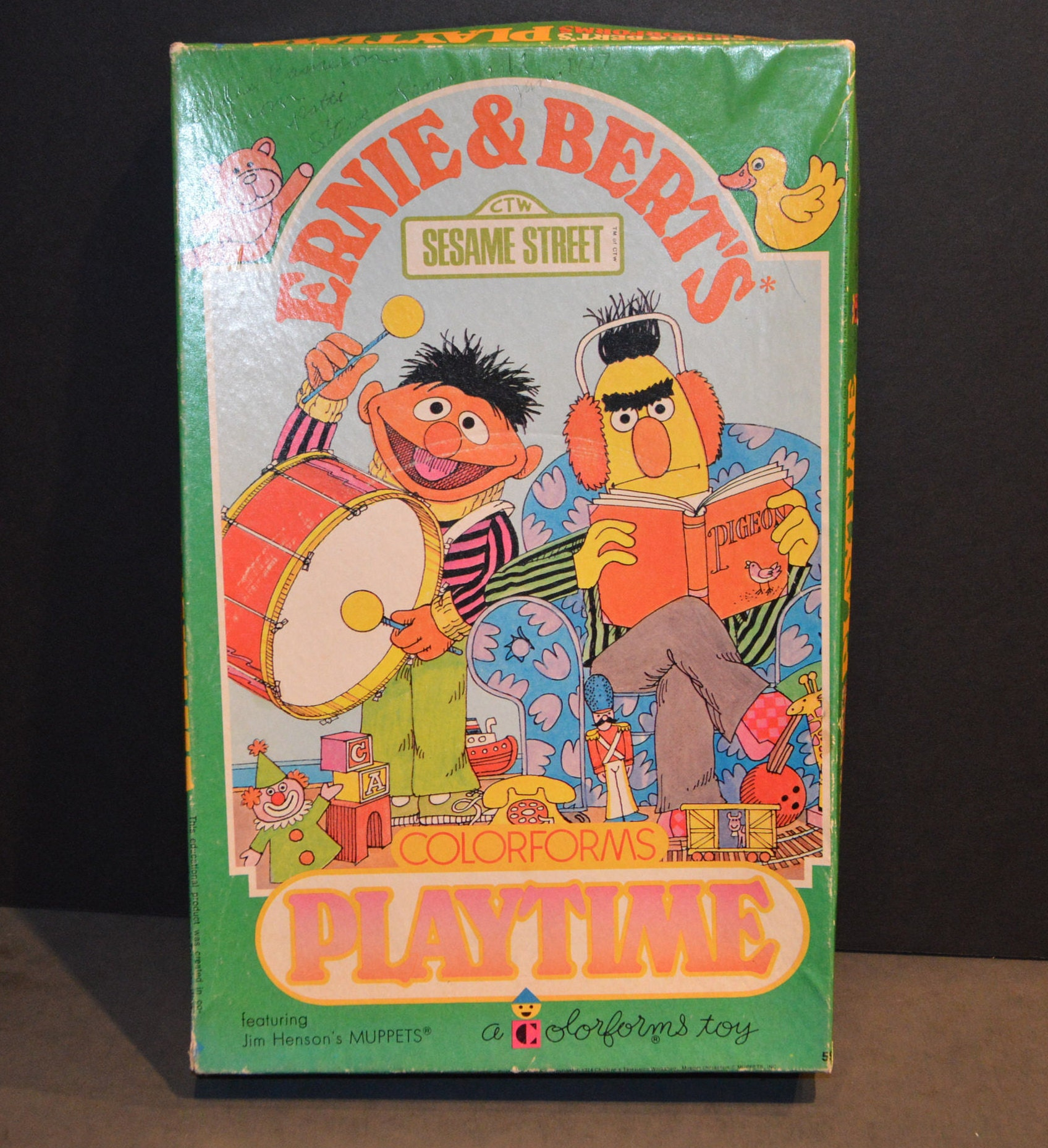 1970 S Sesame Street Ernie And Bert S Playtime Colorforms