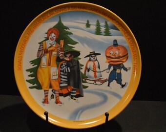 1977 Ronald McDonald Winter Melamine Plate