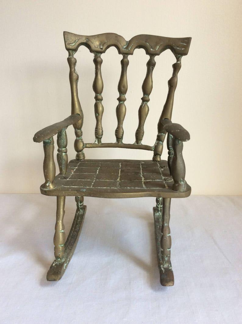 Vintage Schommelstoel Te Koop.Vintage Schommelstoel Een Solide Messing Stoel Ornament Uit Etsy