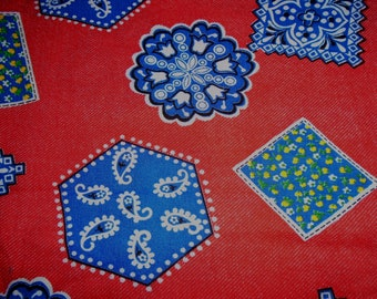 Retro Fabric, Priced by the Half Yard, Polyester or Blend