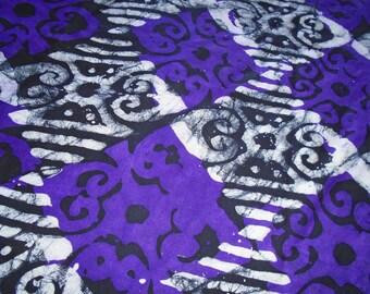 Hand Dyed Batik, Ghana Africa, by the half yard