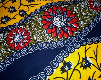 African Wax Print Fabric by the Half Yard