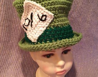 Mad Hatter Crochet Beanie