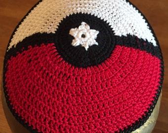 Pokemon Go pokeball Po-kippah kippah geeky Jewish Pikachu yarmulke-all sizes Hanukkah bris bar mitzvah or YOUR custom design