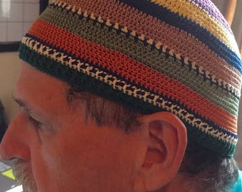 Josef Zawinul Jaco Pastorius style hat kippah..specify your head circumference and length from crown to tip of ear.