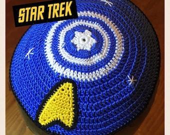 Star Trek kippah Jewish Hanukah gift trekkie kipa yarmulke  bar mitzvah bris wedding father son or YOUR own design