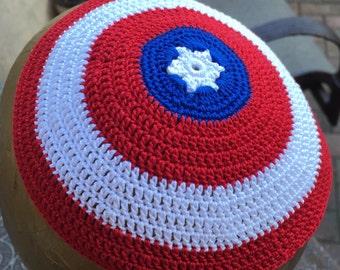 Captain America kippah yarmulke, batman superman super hero or YOUR design