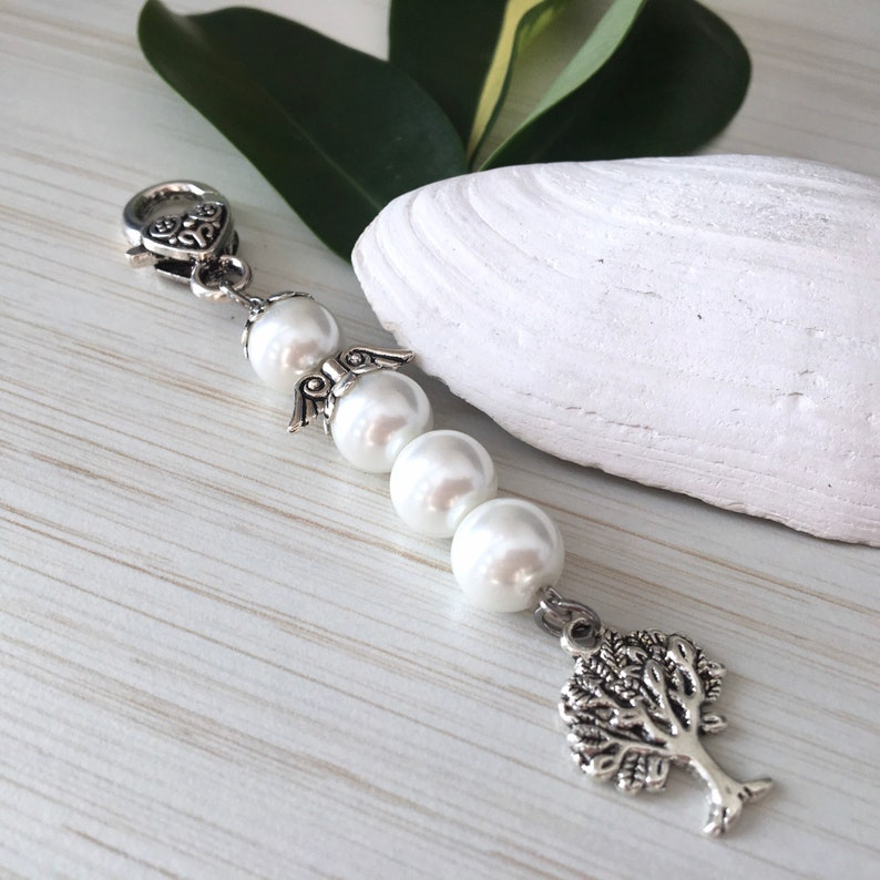 White Angel Jewelry Mom Pearls Gift for Sister Tree of Life image 0