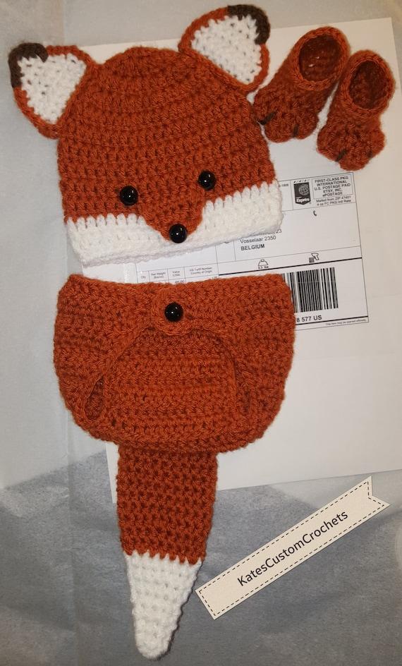 Bebé recién nacido o niño Woodland Fox Traje-apoyo de la foto   Etsy
