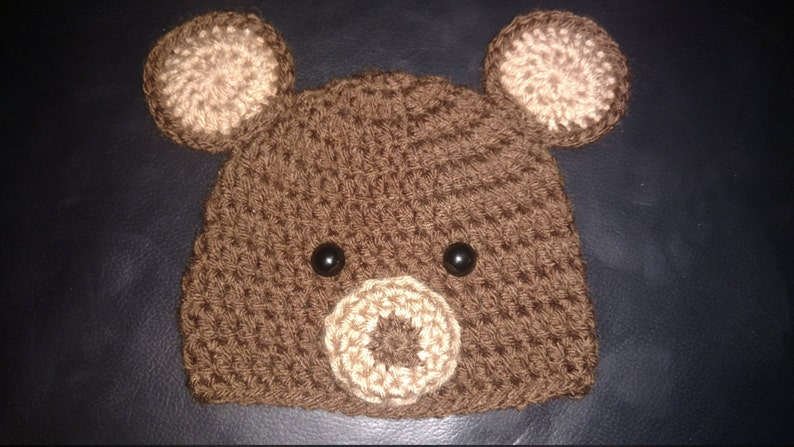 aed612d3c Crochet Newborn Bear Outfit Baby Girl or Boy Woodland | Etsy