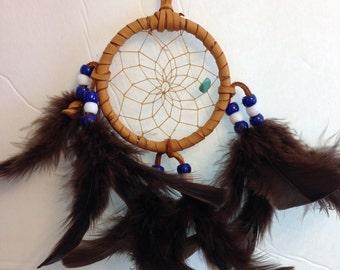 Blue and White Cherokee Dream Catcher