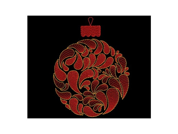 Digital Machine Embroidery Design Christmas Motif Applique Christmas Tree Ball Home Clothes Decor Embroidered Pattern