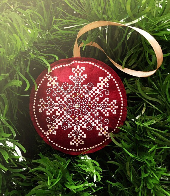 Digital Machine Embroidery Design Snowflake Christmas Motif Etsy