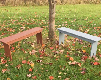 4' shaker shaker benches